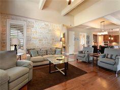 4017 Camacho ST, www.muellersilentmarket.com - Mueller Homes Austin Texas | Mueller Realtor | Mueller Development | Accent Wall | Stone Accent Wall | Wood Floors