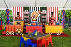 Check out this awesome FAO Schwarz Birthday Party! The train dessert table is amazing!! See more party ideas and share yours at Catch My Party