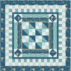 Tales Of The Sea Free Quilt Pattern by Lewis and Irene Fabrics