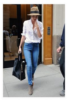 Jeans, white shirt, suede booties...I can do this!