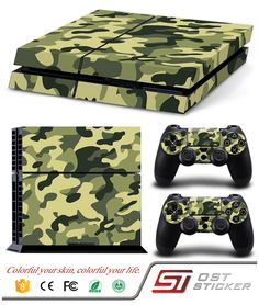 FriendlyTomato Console and DualShock 4 Controller Skin Set - Camo Military Soldier Warrior - PlayStation 4 Vinyl Xbox 360 Controller, Xbox Pc, Playstation 4 Console, Playstation Games, Nintendo Ds, Wii U, Call Of Duty World, Pc For Sale, Best Pc