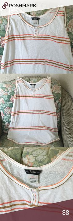 Striped tank top Cute striped tank top. The brand is Supplies by Unionbay. UNIONBAY Tops Tank Tops