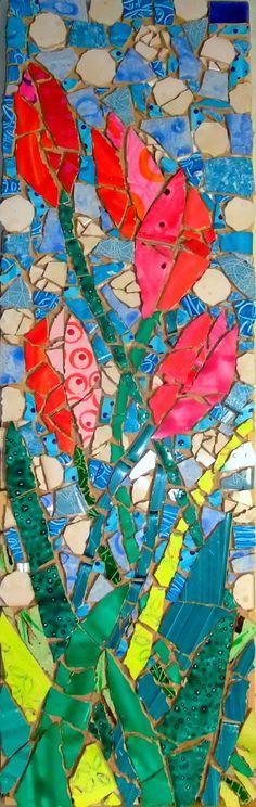 Tulips v dots (sold)-Caroline Casswell