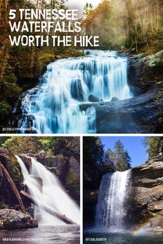 There's nothing like the relaxing roar of a waterfall at the end of a long hike. Here are five Tennessee waterfalls that will make you want to grab your hiking boots and take to the trails. Vacation Places, Vacation Trips, Vacation Spots, Places To Travel, Travel Destinations, Vacation Ideas, Weekend Trips, Day Trips, Tennessee Waterfalls