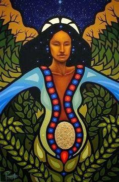 Seed and Flower - Aaron Paquette Daphne Odjig, Claudia Tremblay, Native American Artists, American Indian Art, African Diaspora, Indigenous Art, Aboriginal Art, Divine Feminine, Native Art
