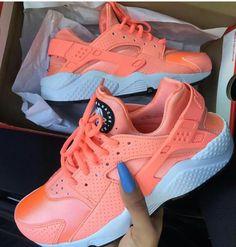 Nike Huarache Sneakers nike, shoes, and orange Cute Sneakers, Sneakers Mode, Cute Shoes, Sneakers Fashion, Me Too Shoes, Shoes Sneakers, Nike Fashion, Harraches Shoes, Fashion Shoes