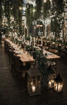 44 Unique Winter Wedding Reception Centerpieces Ideas Unique Ideas for Wedding Receptions in Winter Trendy Wedding, Perfect Wedding, Dream Wedding, Wedding Day, Long Wedding Tables, Wedding Scene, Long Table Reception, Boho Wedding, Twilight Wedding