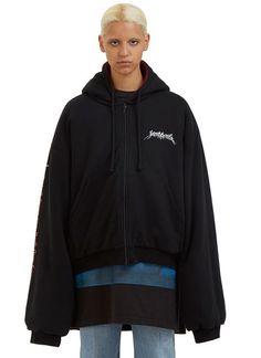 Oversized Reversible Hooded Sweater
