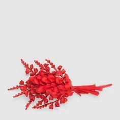 Gucci Broche fleurs en soie et coton