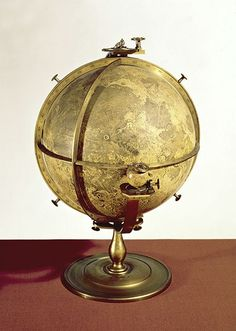 Vintage Moon Globe: John Russell (1745-1806), Selenographia, London, 1797-1805, London, Science Museum, inv. 1949-117. This is the oldest three-dimensional representation of the Moon. It consists of a lunar globe and a small terrestrial globe. A mechanism allows it to simulate the motion of the Moon's libration. Source: Museo Galileo, Florence, website.
