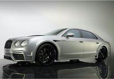 Matte Silver Bentley Flying Spur