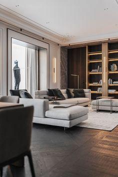 Apartment Interior, Apartment Design, Interior Design Living Room, Living Room Designs, Residential Interior Design, Modern Classic Interior, Contemporary Classic, Luxury Furniture Brands, Luxury Living