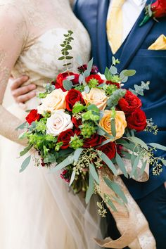 A gorgeous and romantic Beauty and the Beast wedding inspiration shoot with an enchanting tablescape and a fabulous palette of rich reds, deep blues and gold, by Barbara Covington Photography and Like the Dazzling Weddings