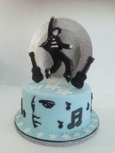 Elvis themed birthday cake custom designed by Villa Chateau Elvis Cakes, Cake Cookies, Cupcakes, Themed Birthday Cakes, Elvis Presley, Cake Decorating, Villa, Party, Desserts
