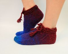 Ankle Socks Knit Slippers by HappyLaika on Etsy, £20.00