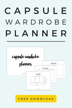 A Capsule Wardrobe Planner to help you define your personal style, choose a cohesive color palette, and create a shopping list to get your wardrobe in tip-top shape!