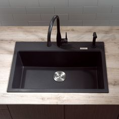Kitchen: Kitchen Dual Mount Single Bowl Black Onyx Granite Kitchen Sink High Quality Products Valuable Balanced Durability Sink Solid Surface Products Shell Shower Kitchen Swanstone Wide: Latest Kitchen Sinks Design For Your Best Result Of Applying Kitchen Decoration Ideas