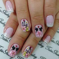 Nail Swag, Flower Designs, Hair And Nails, Manicure, Nail Designs, Make Up, Nail Art, Beauty, Beautiful