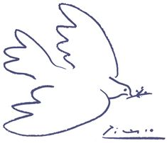 picasso dove peace - key painting of Picasso was his simple bird drawing a symbol of peace. Picasso donated it the Soviet-backed World Peace Congress of 1949 Picasso Dove Of Peace, Peace Dove, Peace Art, Kunst Picasso, Picasso Art, Picasso Tattoo, Picasso Sketches, Picasso Images, Pablo Picasso Drawings