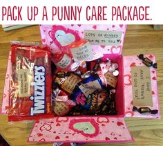 Pack a punny care package | 23 Insanely Romantic Ways To Say I Love You