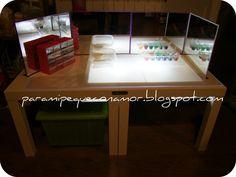 Para mi peque con amor: Mesa y/o caja de luz. Materiales necesarios para hacerla