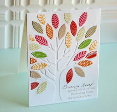 Tree Metal Cutting Dies New 2019 Rectangle Background Leave Dies Scrapbooking for Card Making Craft Die Cut Stencil Mighty Oaks, Karten Diy, Leaf Cards, Thanksgiving Cards, Card Making Inspiration, Card Making Ideas For Beginners, Fall Cards, Penny Black, Card Tags
