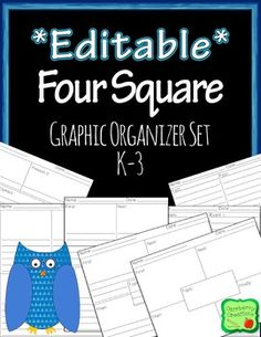 This is a collections of graphic organizers to aid in organizing student writing. The organizers come in portrait and landscape mode, and are in a powerpoint format so you can add text boxes and clip art to customize the pages to you own needs. Phonics Lessons, Grammar Activities, Writing Lessons, Writing Activities, Writing Ideas, Teaching Time, Teaching Writing, Teaching Kindergarten, Four Square Writing