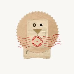 Loving the playfulness of this branding for From Babies With Lov e, designed by Paul Belford Ltd . Beautiful combinations of found recycled. Love Collage, Collage Design, Lion Poster, Unique Birthday Cards, Branding, Brand Identity, Envelope Design, Love Illustration, Organic Baby Clothes