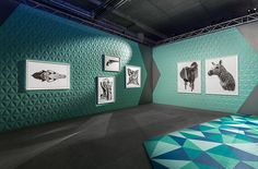 The Cool Hunter - The Art Hunter Launches in Sydney. CJ Hendry art with floor designed by Hollie Martin