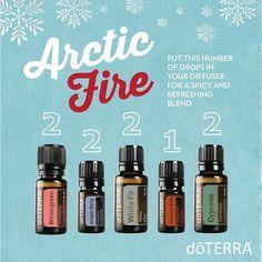 Arctic Fire essential oil diffuser blend