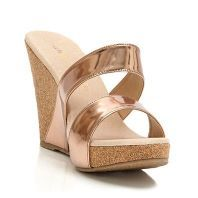 Rose Gold Metallic Wedge. I must have these.