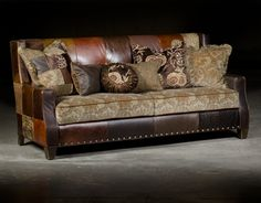 Paul Robert Furniture 571 Cooper Sofa Patchwork Contemporary