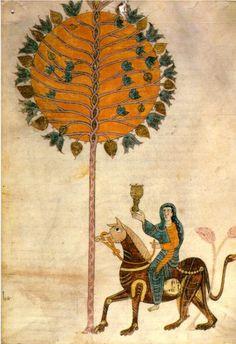 Illustration from The Beatus Apocalypse of Gerona Spain 975 Medieval Manuscript, Medieval Art, Illuminated Manuscript, Baptism Of Christ, Romanesque Art, Medieval Paintings, Book Of Hours, Religious Art, Ancient Art