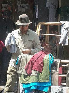 Leonardo DiCaprio goes T-shirt shopping in Rwanda