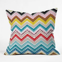 Instantly fall in love with the Khristian A Howell Nolita Chevrons Throw Pillow . With a dazzling and bright motif, this woven polyester pillow adds. Chevron Throw Pillows, Modern Throw Pillows, Outdoor Throw Pillows, Accent Pillows, Decorative Throw Pillows, Cricut, Textiles, Pattern Mixing, Joss And Main