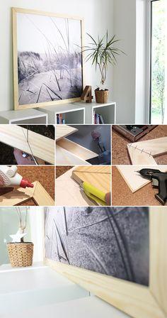 DIY, Furnier, Deko, Rahmen, Ribba, IKEA, Passepartout, Wanddeko,