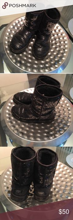 Black sequin uggs Alan but still cute and comfy UGG Shoes Winter & Rain Boots
