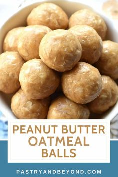 You can make these no-bake 3 ingredient peanut butter oatmeal balls when you want to stop your sweet cravings in a healthy way. These easy peanut butter balls are delicious with simple ingredients! Peanut Butter Oatmeal, Peanut Butter Balls, Baking Recipes, Healthy Recipes, Easy Sweets, Recipe From Scratch, 3 Ingredients, Cravings, Healthy Eating