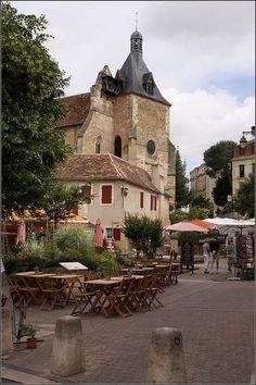 Village Cafe in Bergerac, Aquitaine Region, Dordogne Dept. South Of France, Paris France, Places To Travel, Places To See, Belle France, Beau Site, Outdoor Cafe, Beaux Villages, Dordogne