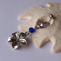 Cute flower belly button ring