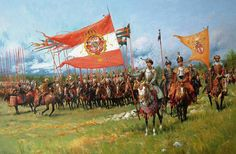 Karol Chodkiewicz at the head of the army Crusader Knight, Knight Armor, Poland History, Horse Facts, Religion, Military Art, Medieval, Illustration, Renaissance