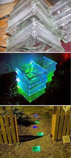 DIY Glowing Solar Walkway..