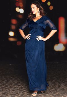 Plus Size Formal Dress With Front Crossover | Plus Size Cocktail Dresses | Jessica London  not sure about this one would have to see it on.