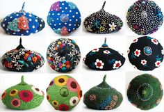 tinytoadstool's beautifully intricate textile work... she can be found as dadaya on etsy