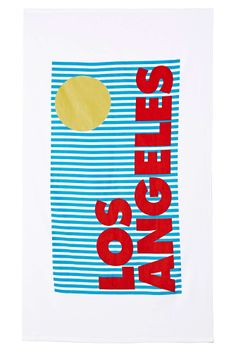Los Angeles Beach Towel