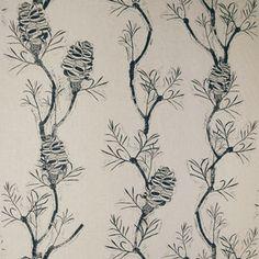 Banksia Indigo - pine cone textile