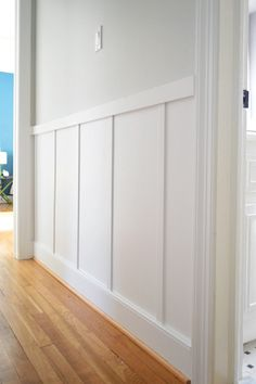 Board and Batten hallway, Young House Love (for the future?youn… Board and Batten hallway, Young House Love (for the future? Young House Love, Home Renovation, Home Remodeling, Board And Batten, Diy Home Improvement, Mudroom, Home Projects, Diy Home Decor, New Homes