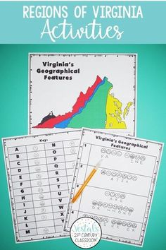 Do you teach Virginia Studies? Here are Regions of Virginia activities you students will love! #vestals21stcenturyclassroom #virginiastudies #virginia #regionsofvirginia #virginiaregions