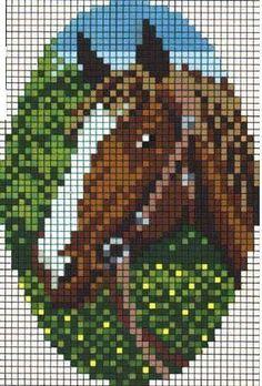 Horse hama perler pattern
