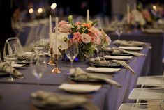 Real Wedding – Suzi & Elliot - Centrepieces - Tablescapes - Table Settings - Wedding Reception Styling